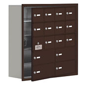 """15 Door Cell Phone Locker with Key Lock and Access Panel - 30.5""""W x 31""""H, B34641"""