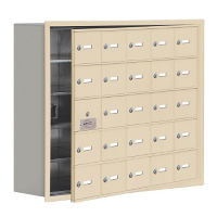 "24 Door Cell Phone Locker with Key Lock and Access Panel - 37""W x 31""H, B34643"