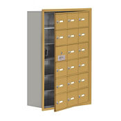 "17 Door Cell Phone Locker with Key Lock and Access Panel - 24""W x 36.5""H, B34645"