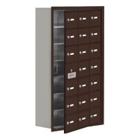 "20 Door Cell Phone Locker with Key Lock and Access Panel - 24""W x 42""H, B34649"
