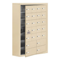 "23 Door Cell Phone Locker with Key Lock and Access Panel - 30.5""W x 42""H, B34650"