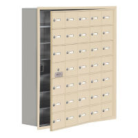 "34 Door Cell Phone Locker with Key Lock and Access Panel - 37""W x 42""H, B34651"