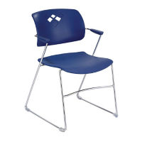 Plastic Flexible Back Stack Chair , C67832