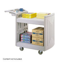 Molded Utility Cart with 2 Shelves, B34349
