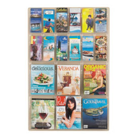Literature Rack with 12 Brochure and 6 Magazine Pocket, D33042