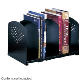 Black Steel Five Section Adjustable Desktop Organizer, B30414