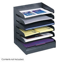 Black Steel Six Tier Letter Tray, B30416