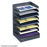 Black Steel Eight Tier Letter Tray, B30417