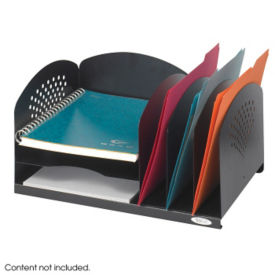 Black Steel Desktop Organizer, B30422