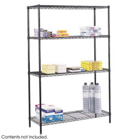 "Medium Duty Steel Wire Shelving - Four Shelf, 48""x18"", B32202"
