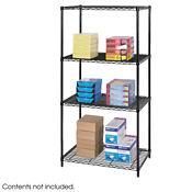 """Heavy-Duty Steel Wire Shelving - Four Shelves, 36""""x24"""", B32208"""