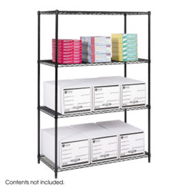 "Heavy-Duty Steel Wire Shelving - Four Shelves, 48""x24"", B32213"