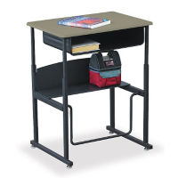 "28""W AlphaBetter Stand Up Desk with Thermofused Top and Book Box, D35085"