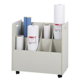 Wood Mobile Roll File 8 Compartment, D70009