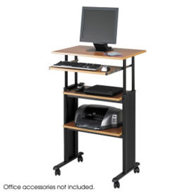 Mobile Adjustable/Standing Height Computer Workstation, E10197