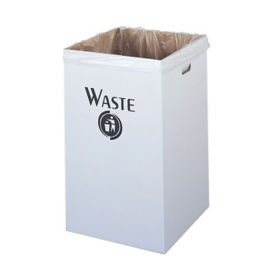Trash Bin Corrugated Fiberboard 40 Gallon Capacity, R20166