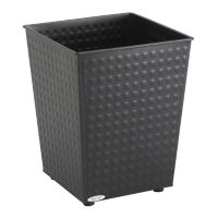 Square Trash Bin 6 Gallon Capacity, R20171