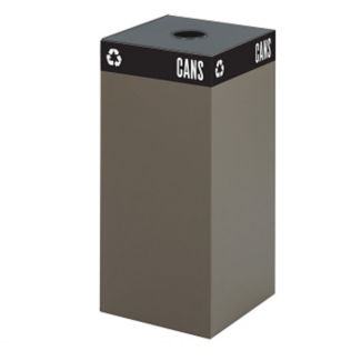 "31 Gallon Steel Trash Receptacle with Can Opening - 32""H, R20259"