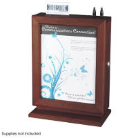 Customizable Wood Suggestion Box with Lock, W60507