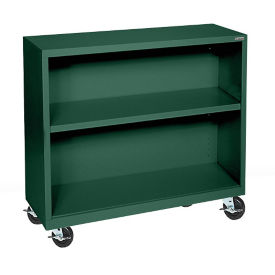 "Bookcase with Wheels 36"" High, D32129"