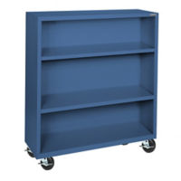 "Bookcase with Wheels 48"" High, D32130"