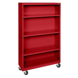 "Bookcase with Wheels 58"" High, D32131"