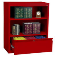 "Bookcase with File Drawer 36"" High, D32125"