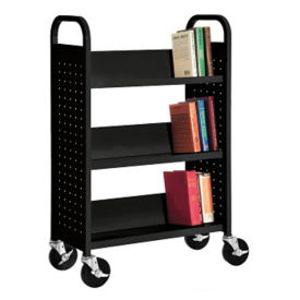 Three Slanted Shelf Book Truck, V21403