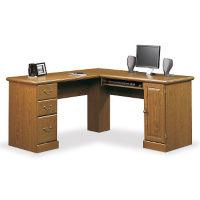 """Compact Corner Computer L-Desk - 59.5""""W, C80222"""