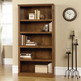 Oiled Oak Finish Five Shelf Bookcase, B30437