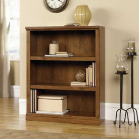 Oiled Oak Finish Three Shelf Bookcase, B30440