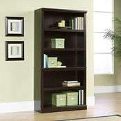 Jamocha Wood Finish Five Shelf Bookcase, B30438