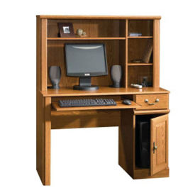 Small Office Computer Desk with Hutch, D35264