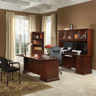 U-Desk and Bookcase Set, D35645