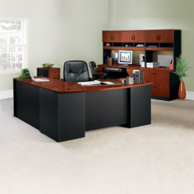L-Desk Office Suite with Locking Files, D35693