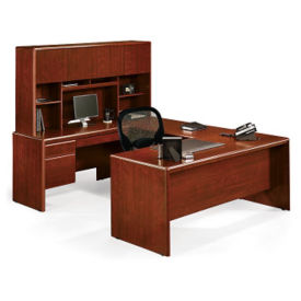 Executive U Desk with Hutch, T60048