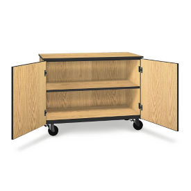 "Two Shelf Mobile Low Storage Cabinet - 36""H, B30625"