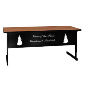 "Adjustable Height Training Table with Engraved Modesty Panel - 30"" x 72"", T11502"