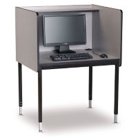 Computer Carrel - Adjustable Height Starter, J10048
