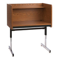 Pedestal Base Carrel - Adjustable Height, J10054