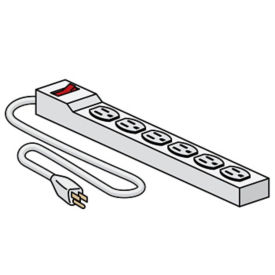 Six Outlet Power Strip, V21430