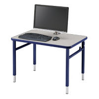 "Adjustable Height Computer Table - 36""W x 24""D, E10177"
