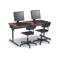 "Adjustable Height Computer Table 72"" x 24"", E10211"