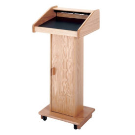 "Floor Lectern With Storage and Light - 47""H, M10385"