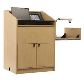 "One Bay Multimedia Lectern - 48""H, M10386"