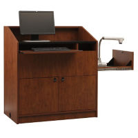 "Two Bay Multimedia Lectern - 48""H, M10387"