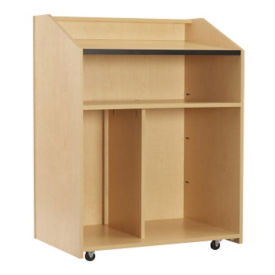 "Multi Shelf Floor Lectern - 48""H, M10389"