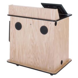 """Compact Multimedia Lectern With Power - 43""""H, M10394"""