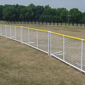 "Field Fence with Safety Rail 126""W , V21639"