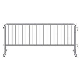 "Flat Foot Steel Barricade 102""W , V21643"